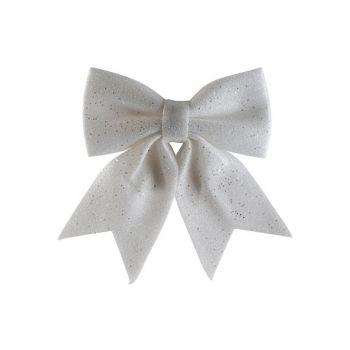 Cosy @ Home Noeud Glitter Blanc 25x30cm Plastic