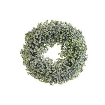 Cosy @ Home Couronne Honey Snow Vert D30xh4,5cm Pe