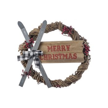 Cosy @ Home Couronne Skis - Merry Christmas Multi-co