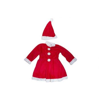 Cosy @ Home Costume Pere Noel Girls 2pcs 6-8y Rouge