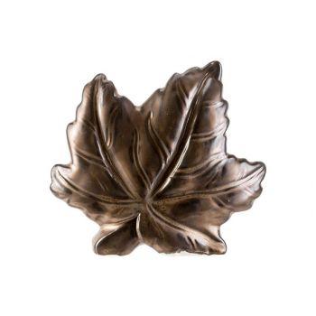 Cosy @ Home Feuille Brun 15,8x4,8xh14cm Ceramique