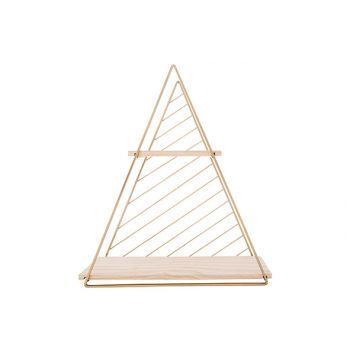 Cosy @ Home Rack Deco Triangle Dore 37,5x11xh42cm Me