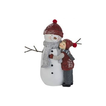 Cosy @ Home Bonhomme With Child Rouge Blanc 20,2x10,