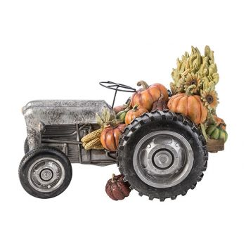Cosy @ Home Figure Tractor Gris 37,5x22,7xh24,3cm Re