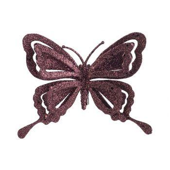 Cosy @ Home Clip Papillon Glitter Bordeaux 14x2xh10c