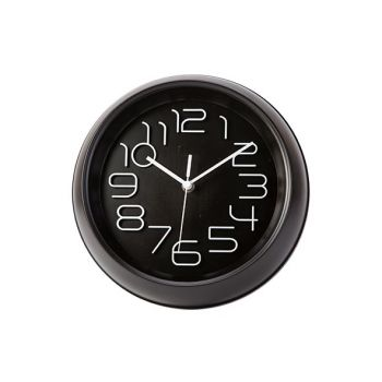 Cosy & Trendy Horloge Noir D26xh5,3cm Rond