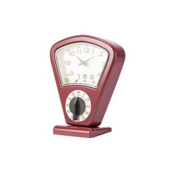 Cosy & Trendy Timer Et Horloge Rouge 17,5x10xh21cm