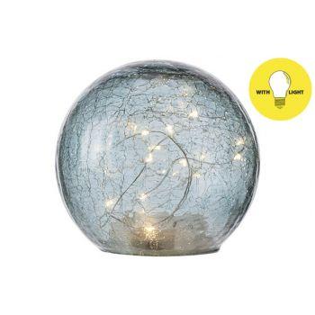 Cosy @ Home Boule Led Lamp Bleu D15xh14cm Verre