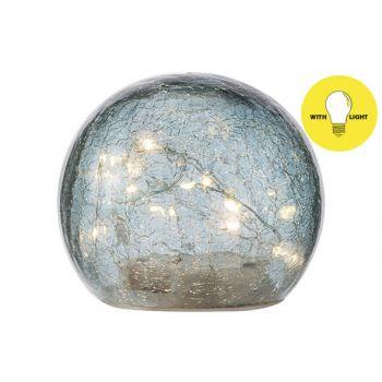 Cosy @ Home Boule Led Lamp Bleu D12xh10cm Verre