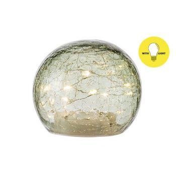 Cosy @ Home Boule Led Lamp Vert D12xh10cm Verre