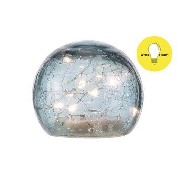 Cosy @ Home Boule Led Lamp Bleu D10xh9cm Verre