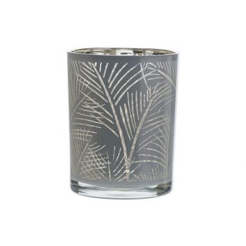 Cosy @ Home Bougeoir Jungle Blanc 10x10xh12,5cm Verr