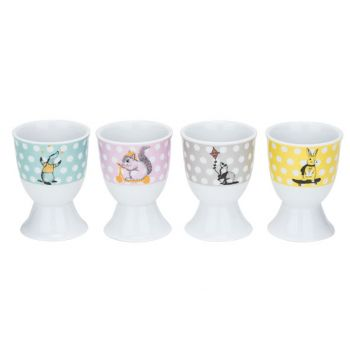 Cosy & Trendy Animal Coquetier D4,8xh6,7cm Set 4