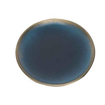 Cosy @ Home Assiette Brush Goud Nuit Bleu 40x40xh3,5