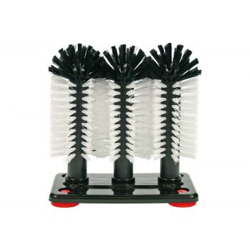 Cosy & Trendy For Professionals Brosse A Verres - 3 Brosses H19x18x10cm