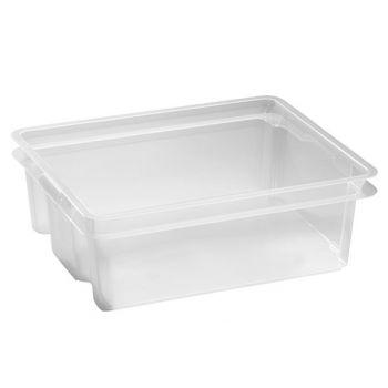 Keter Crownest Box 17l Transparant 43x36x14.5c