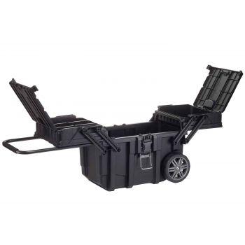 Keter Job Box Mobile Noir Avec Rouleaux 64.6x3
