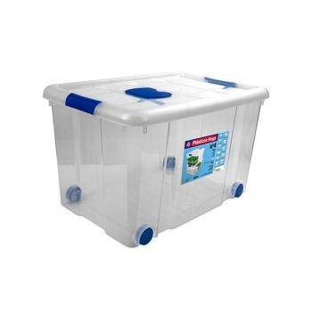 Hega Hogar Box De Rangement Sur Roues 55l Transpara