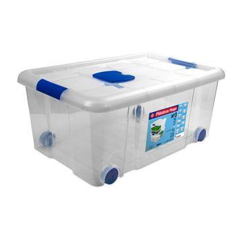Hega Hogar Box De Rangement Sur Roues 36l Transpara