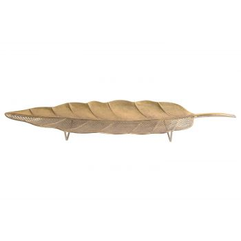 Cosy @ Home Coupe Leaf Dore 71x21,5xh4,5cm Metal