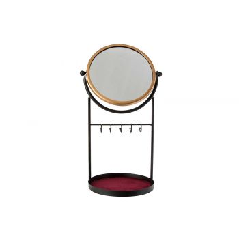 Cosy @ Home Miroir A Bijoux Noir 25x20xh45cm Metal
