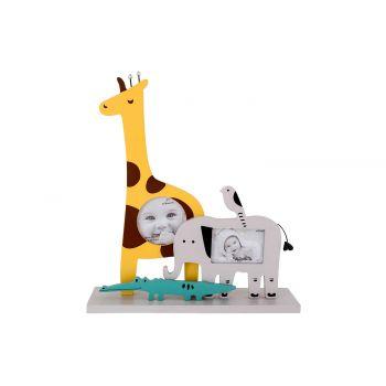 Cosy @ Home Pele Mele Elephant Giraffe Jaune 23x6xh2