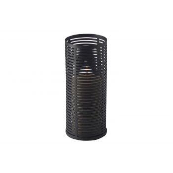 Candola Ubi Support Bougie Noir Mat - Verre 15cm