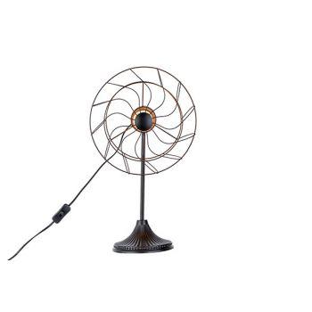 Cosy @ Home Lampe Ventilator Noir 32x22,5xh53cm Meta