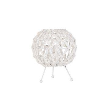 Cosy @ Home Lanterne Blanc 23x23xh26cm Sphere Paille