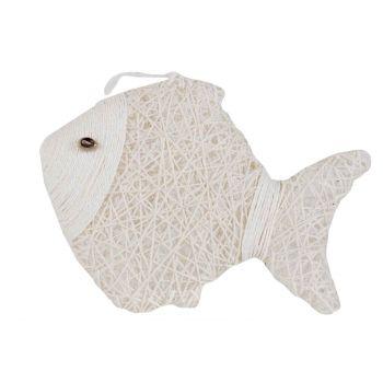 Cosy @ Home Poisson Paper String Blanc 24x6xh18cm