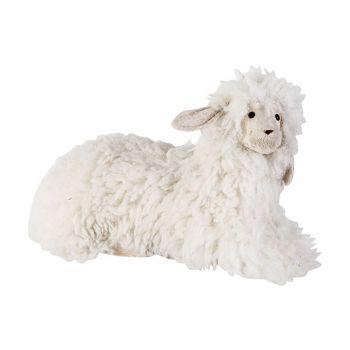 Cosy @ Home Mouton Wool Blanc 37x19xh20cm Foam