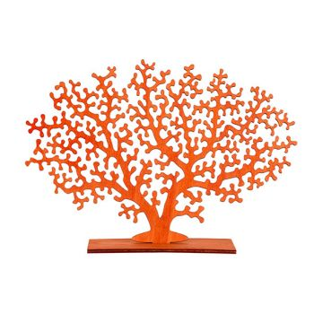 Cosy @ Home Plante Corail Orange 30xh22cm Bois
