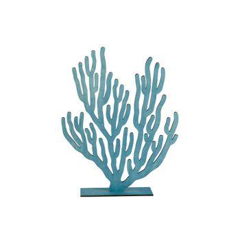 Cosy @ Home Plante Corail Bleu 31xh40cm Bois