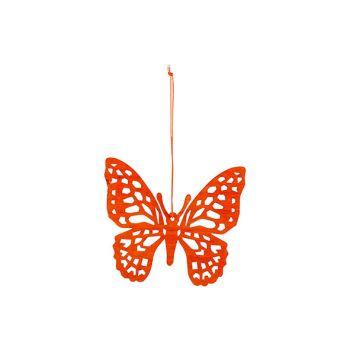 Cosy @ Home Papillon Hanger Orange 12xh11cm Bois