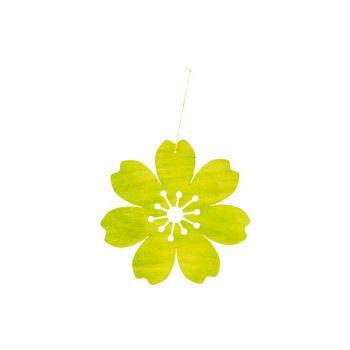 Cosy @ Home Fleur Hanger Vert D25cm Bois
