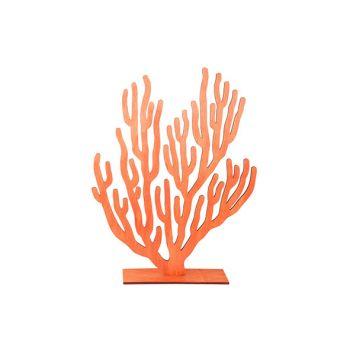 Cosy @ Home Plante Corail Orange 31xh40cm Bois