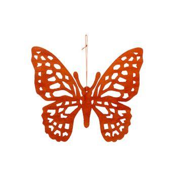 Cosy @ Home Papillon Hanger Orange 25xh22cm Bois
