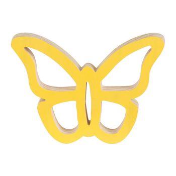 Cosy @ Home Papillon Hanger Jaune 14x11xh2cm Bois