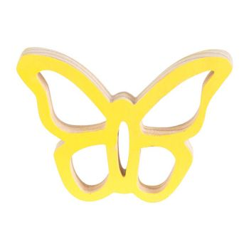 Cosy @ Home Papillon Hanger Jaune 10x7xh2cm Bois