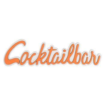 Cosy @ Home Coctailparty Orange 48x2xh13cm Bois