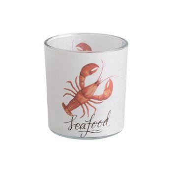 Cosy @ Home Bougeoir Lobster Orange Blanc D7xh8cm Ve
