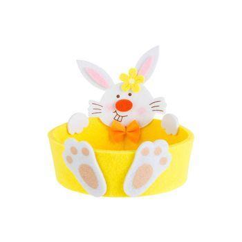 Cosy @ Home Panier De Paques Rabbit Jaune D13xh12,5c
