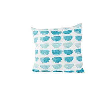 Cosy @ Home Coussin Blue Print  Blanc 45x45xh10cm Po