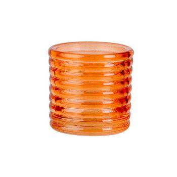 Cosy @ Home Bougeoir Fluo Orange D6xh6cm Verre