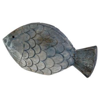 Cosy @ Home Poisson Fish Skin Bleu 13,5x2,5xh7cm