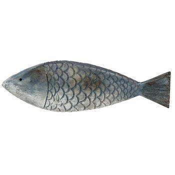 Cosy @ Home Poisson Fish Skin Bleu 18,5x2,5xh5,5cm