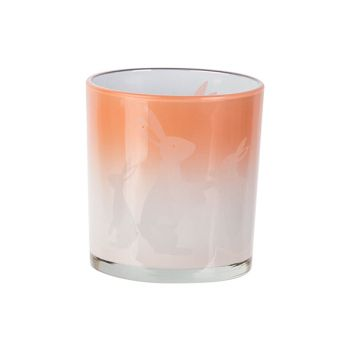Cosy @ Home Bougeoir Bunny White Rose D7xh8cm Verre
