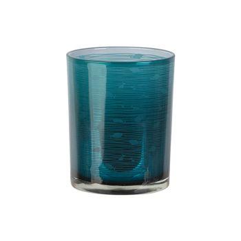 Cosy @ Home Bougeoir Fish Bleu D10xh12cm Verre
