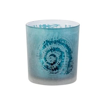 Cosy @ Home Bougeoir Shell Bleu D7xh8cm Verre
