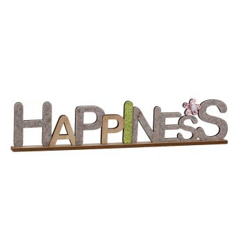 Cosy @ Home Happiness Naturel 50x3xh10cm Bois